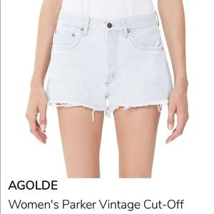 AGOLDE Light Wash Cut-Off Shorts